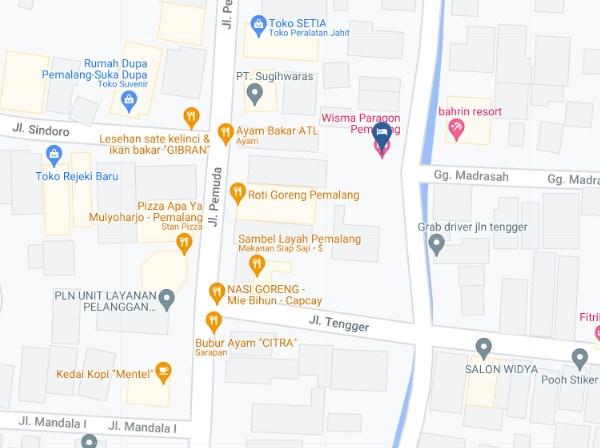 Map Letak Wisma Paragon Pemalang
