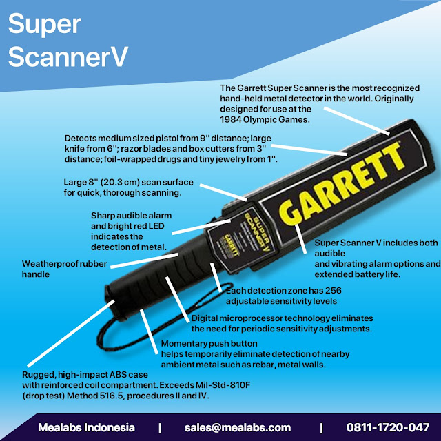 handheld metal detector garret super scannerv
