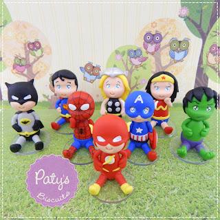 Lembrancinhas Super Heróis - Festa Infantil - Paty's Biscuit