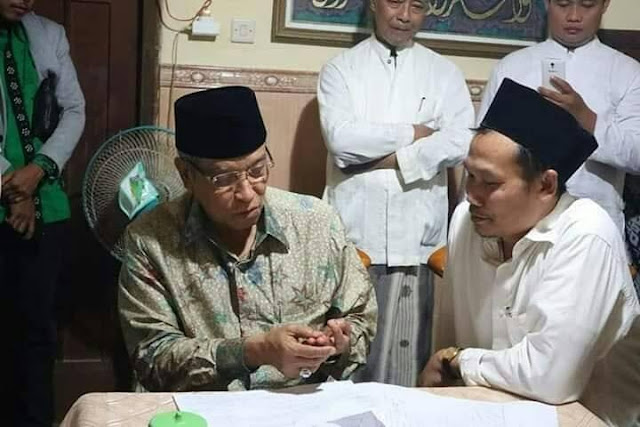 Pertemuan Indah Dua Ulama Besar 'KH Said Aqil Siradj dan Gus Baha'