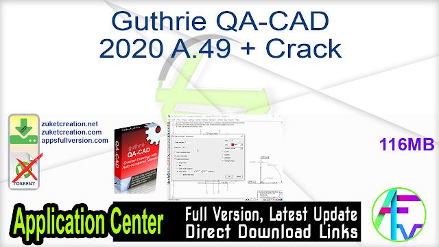 Guthrie QA-CAD 2020 A.49 + Crack
