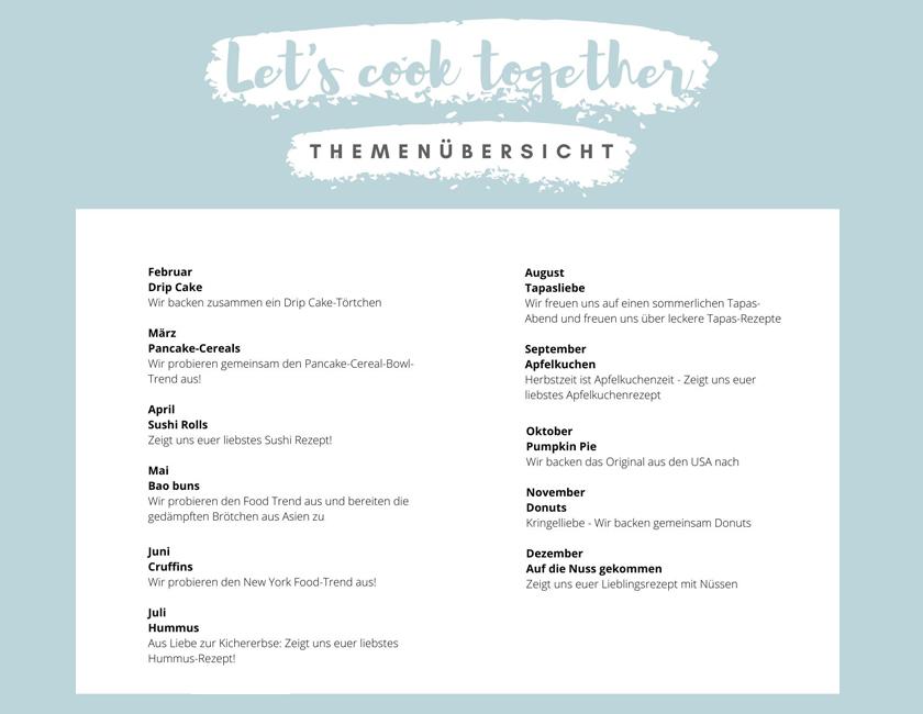 Lets cook together Bloggeraktion