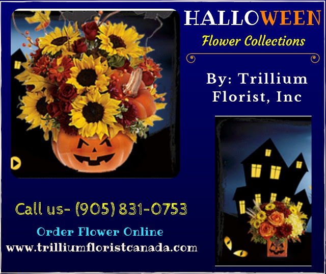 Halloween Flower Arrangements By Trillium Florist, Inc