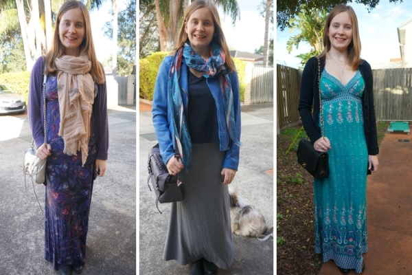 Maxi dresses and ankle boots - cosy winter layering | Away From Blue