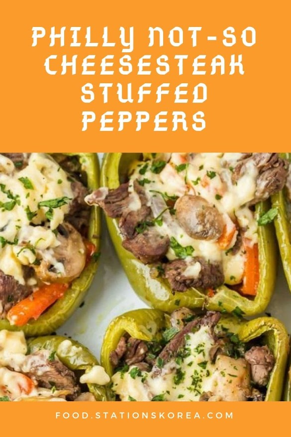 PHILLY NOT-SO CHEESESTEAK STUFFED PEPPERS