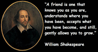 William Shakespeare Quote about friend