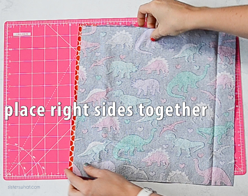 sew sandwich wrap right sides together