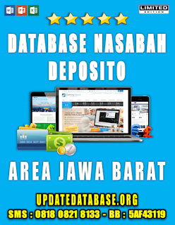 Jual Database Nasabah Deposito Jawa Barat