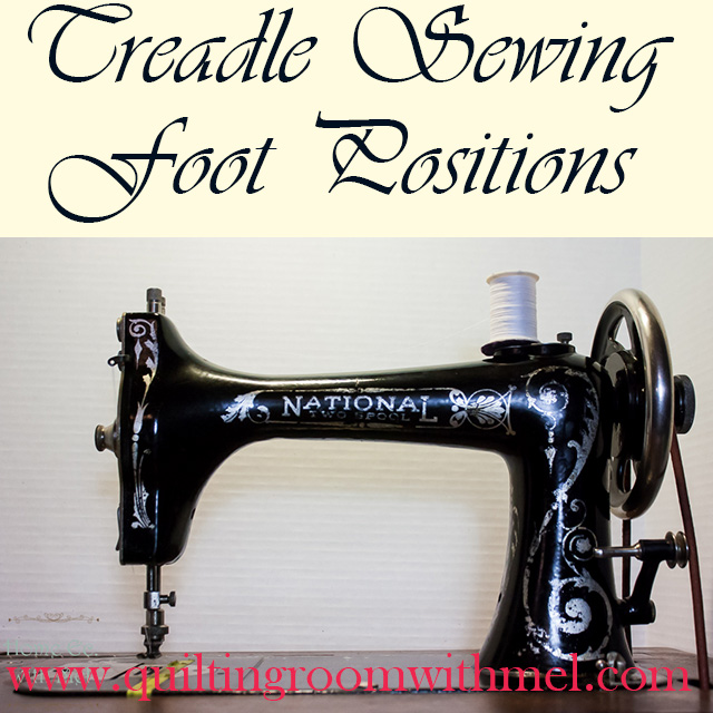 treadle sewing foot positions