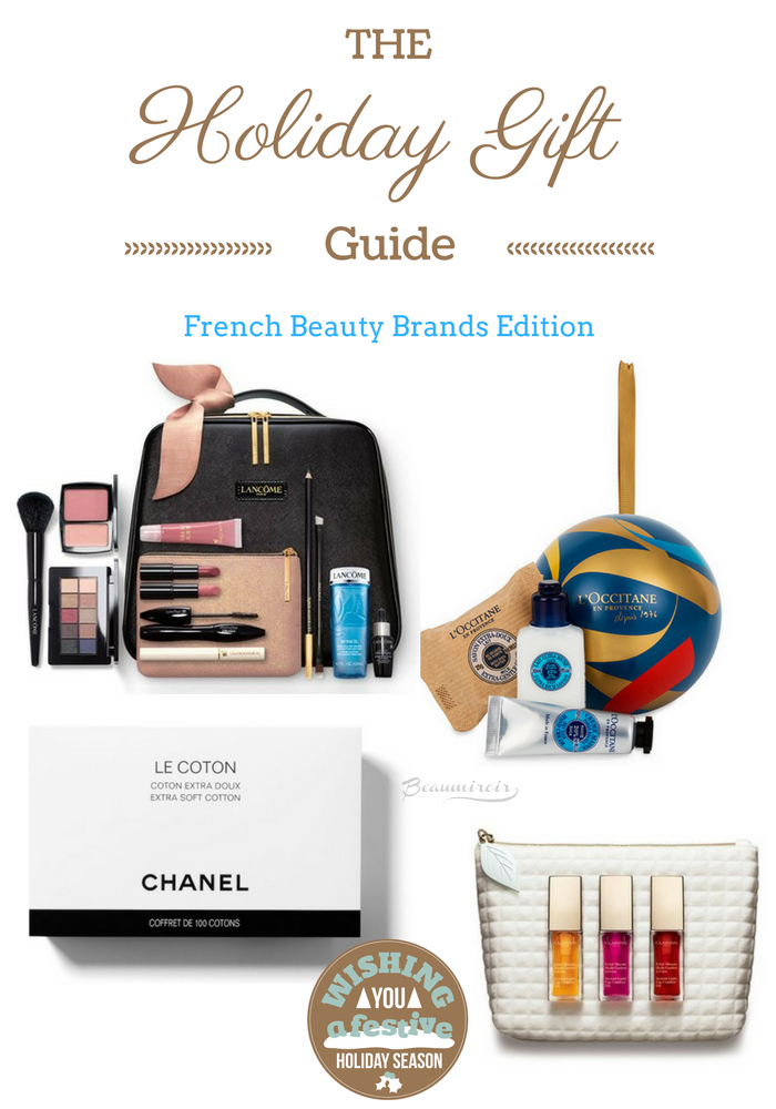 beauty gift french luxury guide holidays clarins chanel lancome l'occitane
