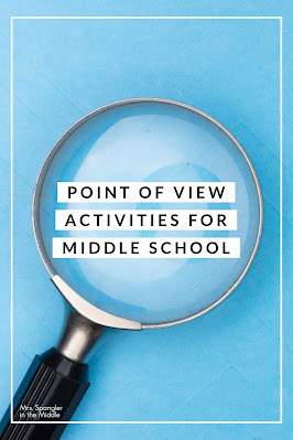 Use these ideas to help teach your middle school students how to USE point of view to analyze texts!