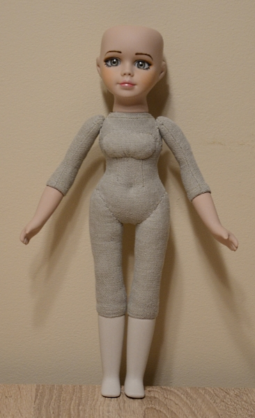 New body for porcelain doll.