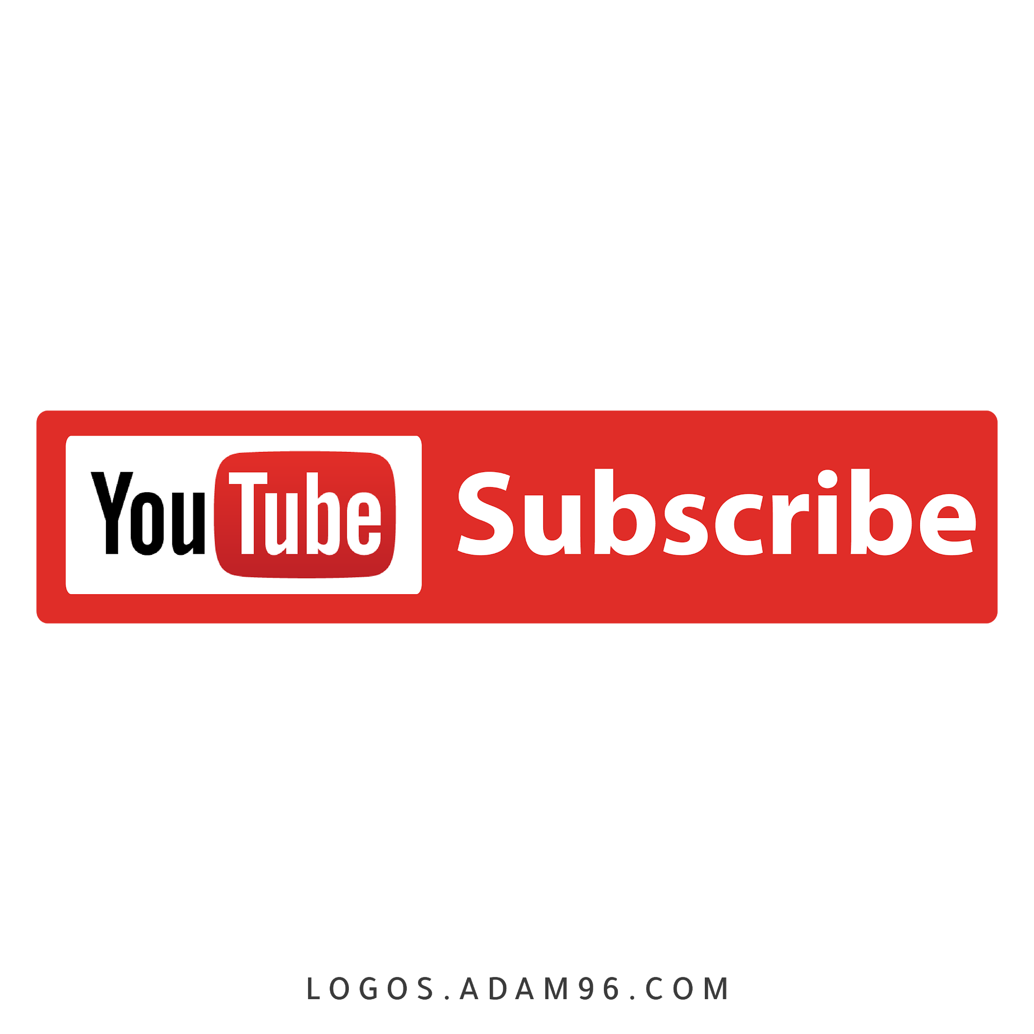 Download Subscribe YouTube Logo PNG - Free Vector