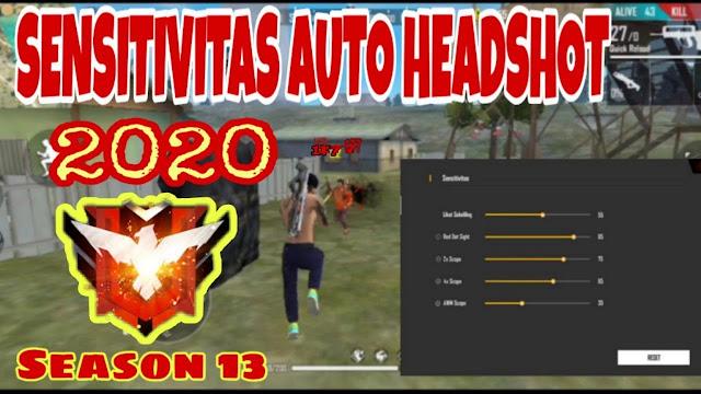 sensitivitas ff auto headshot 2020 terbaik  licin