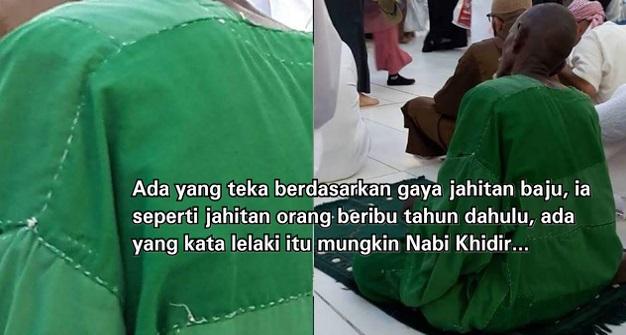 Netizen tertanya-tanya siapa lelaki berjubah hijau sedang khusyuk beribadat di hadapan Kaabah