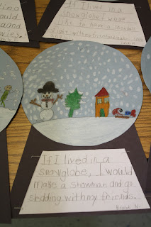 stuck in a snow globe writing activity for thanksgiving