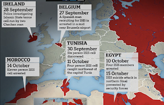How ISIS virus has spread around the globe even as its heartland caliphate collapses: Map reveals where cells have sprung up in the past MONTH as the group is obliterated in Iraq and Syria