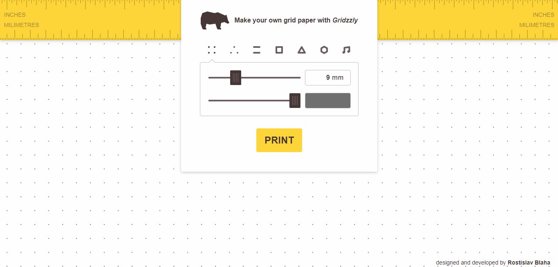 Gridzzly 各種方格紙筆記線上 DIY ,客製方格筆記本免費列印