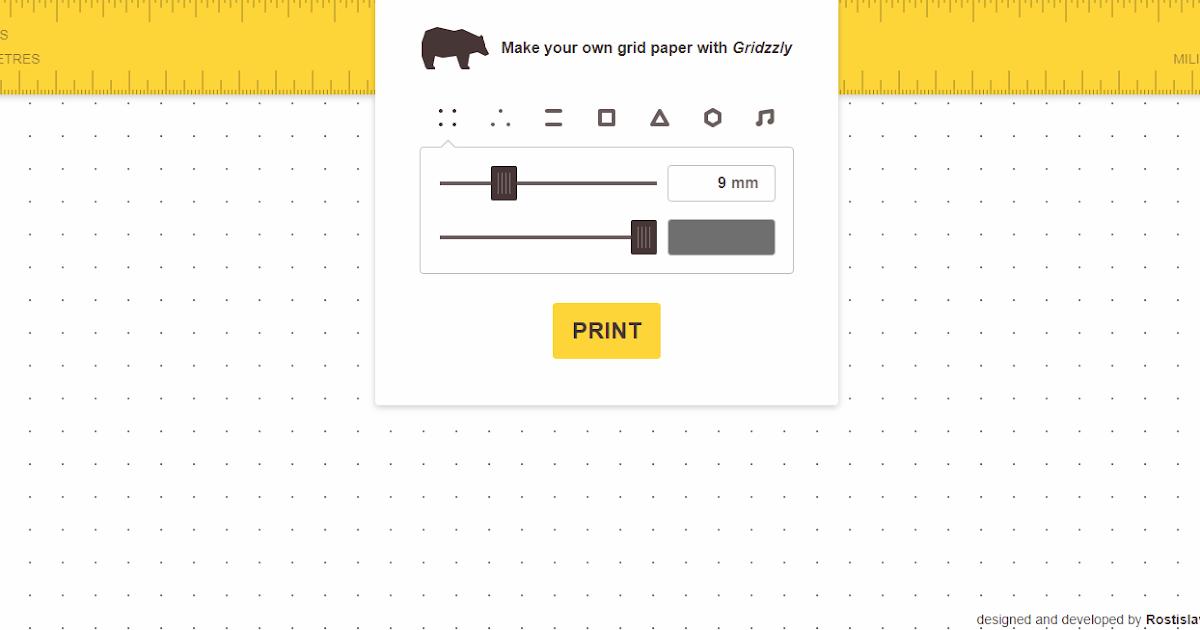 Gridzzly 各種方格紙筆記線上 DIY 。客製方格筆記本免費列印