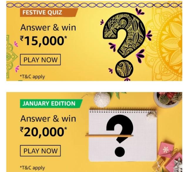 Amazon festive quiz Amazon festive quiz Jan 2021