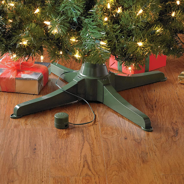 rotating musical Christmas tree stand