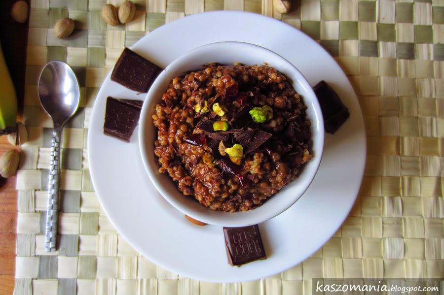 Kasza jaglana z bananem i kakao