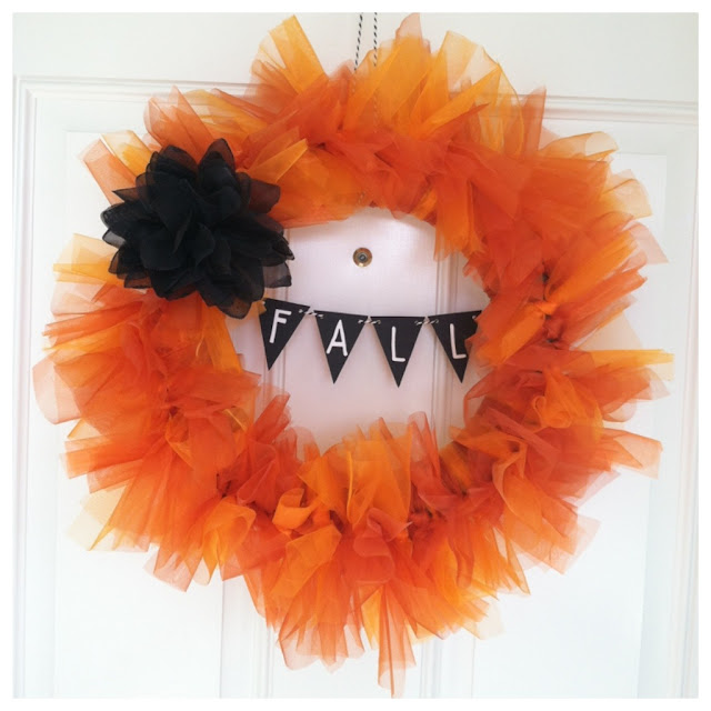 Organza DIY Fall Wreath - LeroyLime