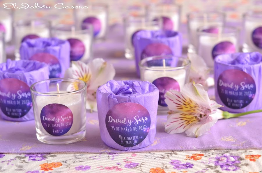 Velas aromaticas para bodas detalles personalizados para invitados