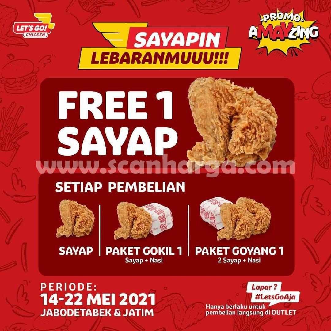 Promo Let's Go! Chicken Terbaru 14 - 22 Mei 2021
