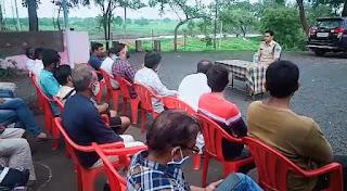 पुलिस थाना परिसर में शांति समिति की बैठक आयोजित की गई