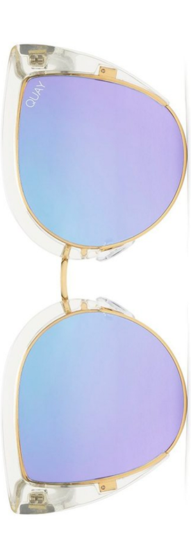 Quay x Missguided Oh My Dayz 53mm Sunglasses in Purple