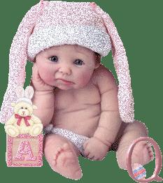 Abecedario Bebé en Rosa con Glitter.