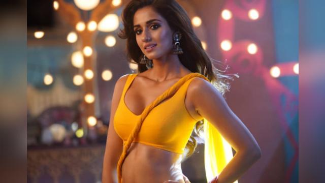 disha patni in yellow saree hot