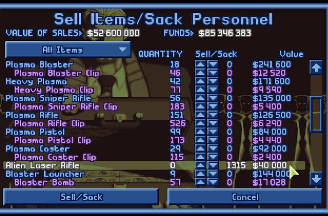 Open Xcom - Sell Items Screenshot