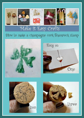 Champagne cork shamrock stamp