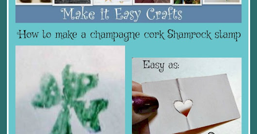 How to make a perfect champagne cork shamrock stamp