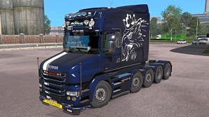 Scania T Metallic Griffin skin mod