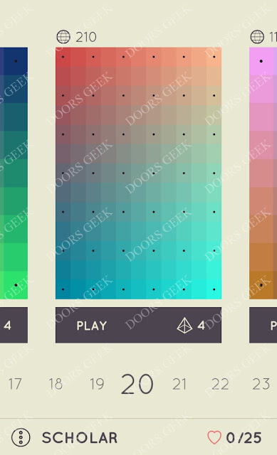 I Love Hue Scholar Level 20 Solution, Cheats, Walkthrough