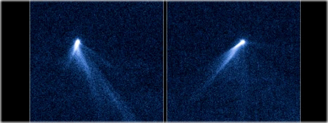 asteroide se divide em dois e ganha cauda de cometa