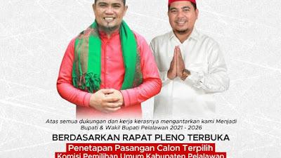 Jadwal Pelantikan Bupati dan Wakil Bupati Terpilih H Zukri Misran - Nasaruddin SH MH  26 April 2021