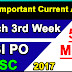 March 3rd Week Current Affairs | Important 50 MCQs | PDF