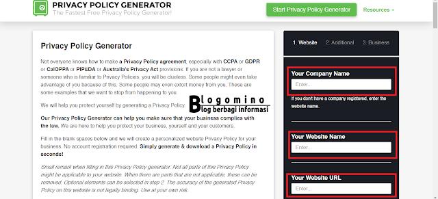Cara Membuat Privacy Policy Dengan Mudah