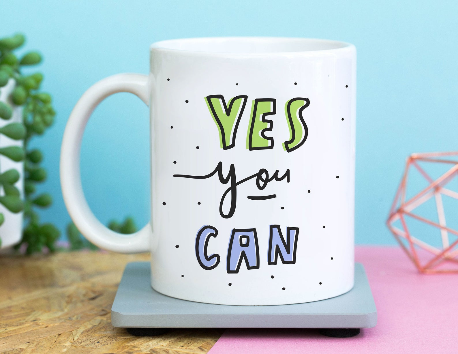 yes you can mug, motivational mug, self care mug, self care gifts