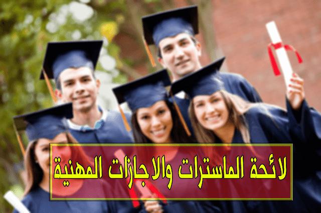 مسالك الماستر والاجازات المهنية المفتوحة بكلية العلوم القانونية والاقتصادية والاجتماعية بمكناس