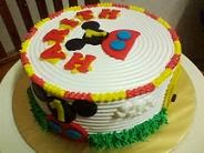 Mickey Mouse House With Italian Rainbow Cream Cheese Cake