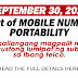 Mobile Number Portability magsisimula na sa September 30, 2021