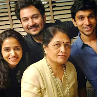 pratik gandhi with her brother and mother