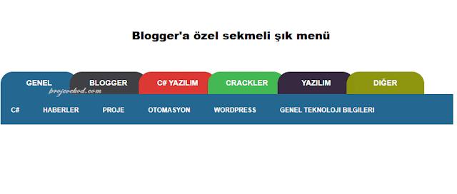 Blogger Sekmeli TAB Yatay Menü Ekleme