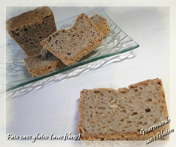 Pain sans gluten (avec fibrex)