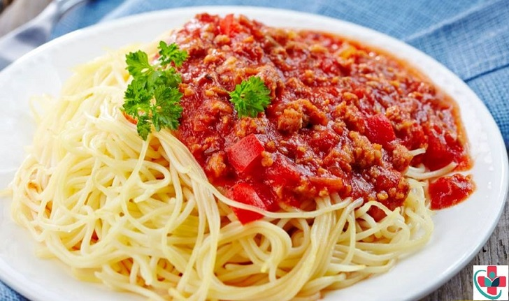 MINCED BEEF WITH SPAGHETTI
